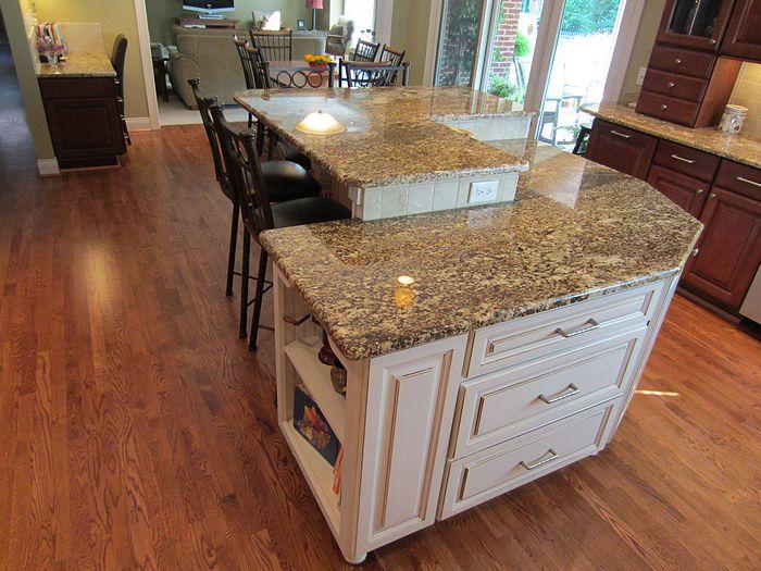Kitchen Island Levels Prep Sink And Dishwasher Then Raised Level